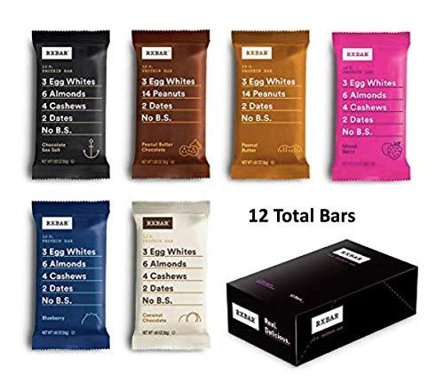RXBAR, Best Seller Variety Pack, Protein Bar,  (Pack of 12) Breakfast Bar - Gains Everyday