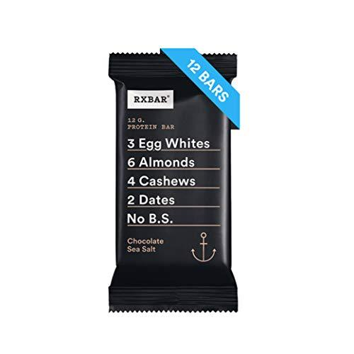 RXBAR, Chocolate Sea Salt, Protein Bar, (Pack of 12) Breakfast Bar, High Protein Snack - Gains Everyday
