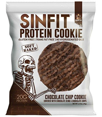 SINFIT Protein Cookie by Sinister Labs - 20g protein Gluten-free - 2.75 oz (Chocolate Chip, 10-Pack)-Gains Everyday