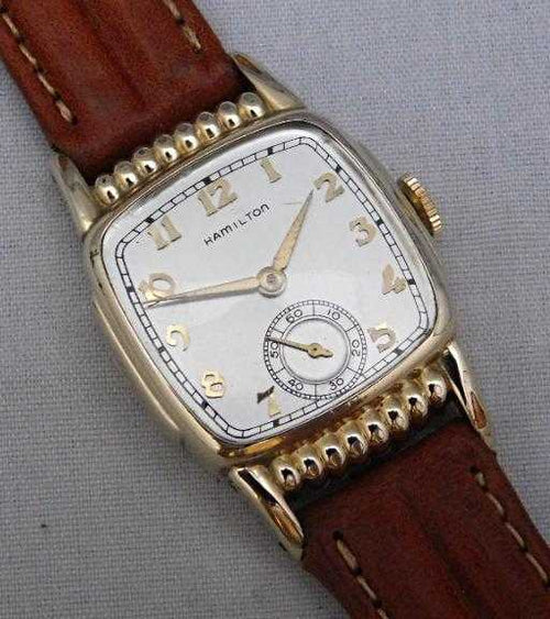 Hamilton Roland Vintage 1937 10k GF Restored & Serviced Mens Watch....28mm | The Vintage Outlet