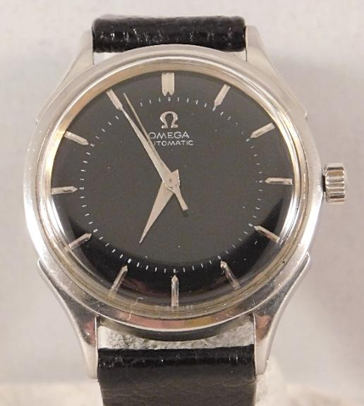 Omega Bumper Ref. 2637-5 Vintage 1954 Automatic Stainless Steel Mens Watch....35mm