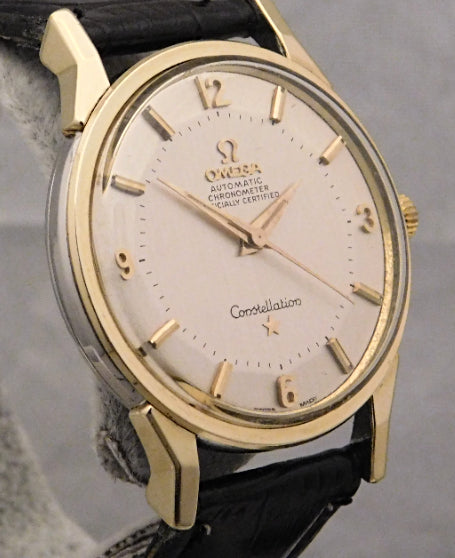 Omega Constellation Pie Pan Certified Chronometer 14K & SS Vintage 1962 Mens Watch....34mm