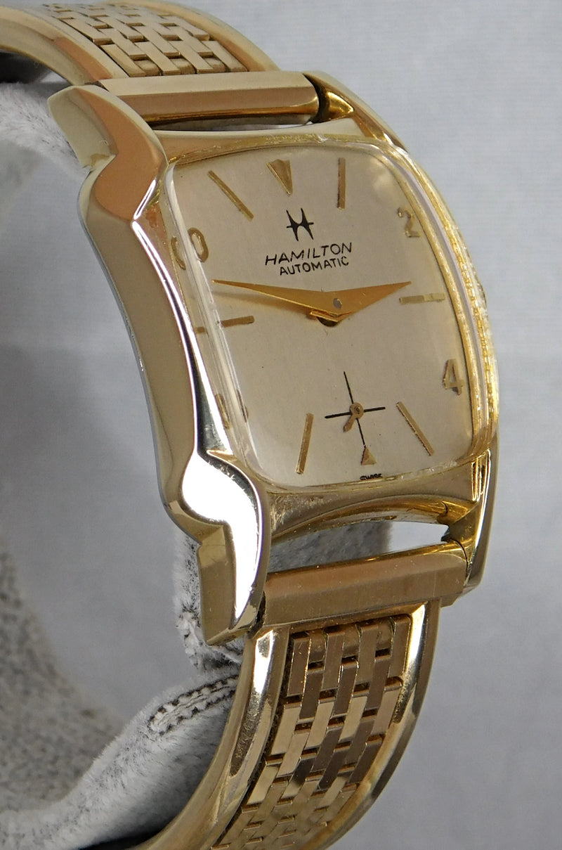 Hamilton 10k Gold Filled Vintage 1950's Recently Serviced Mens Watch....26mm