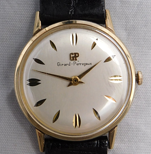 Girard Perregaux 10K Gold Filled Vintage 1960's Manual Wind Mens Watch....33mm