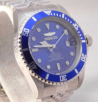 Invicta Pro Diver Blue Dial Automatic Date Stainless Steel Mens Watch....42mm