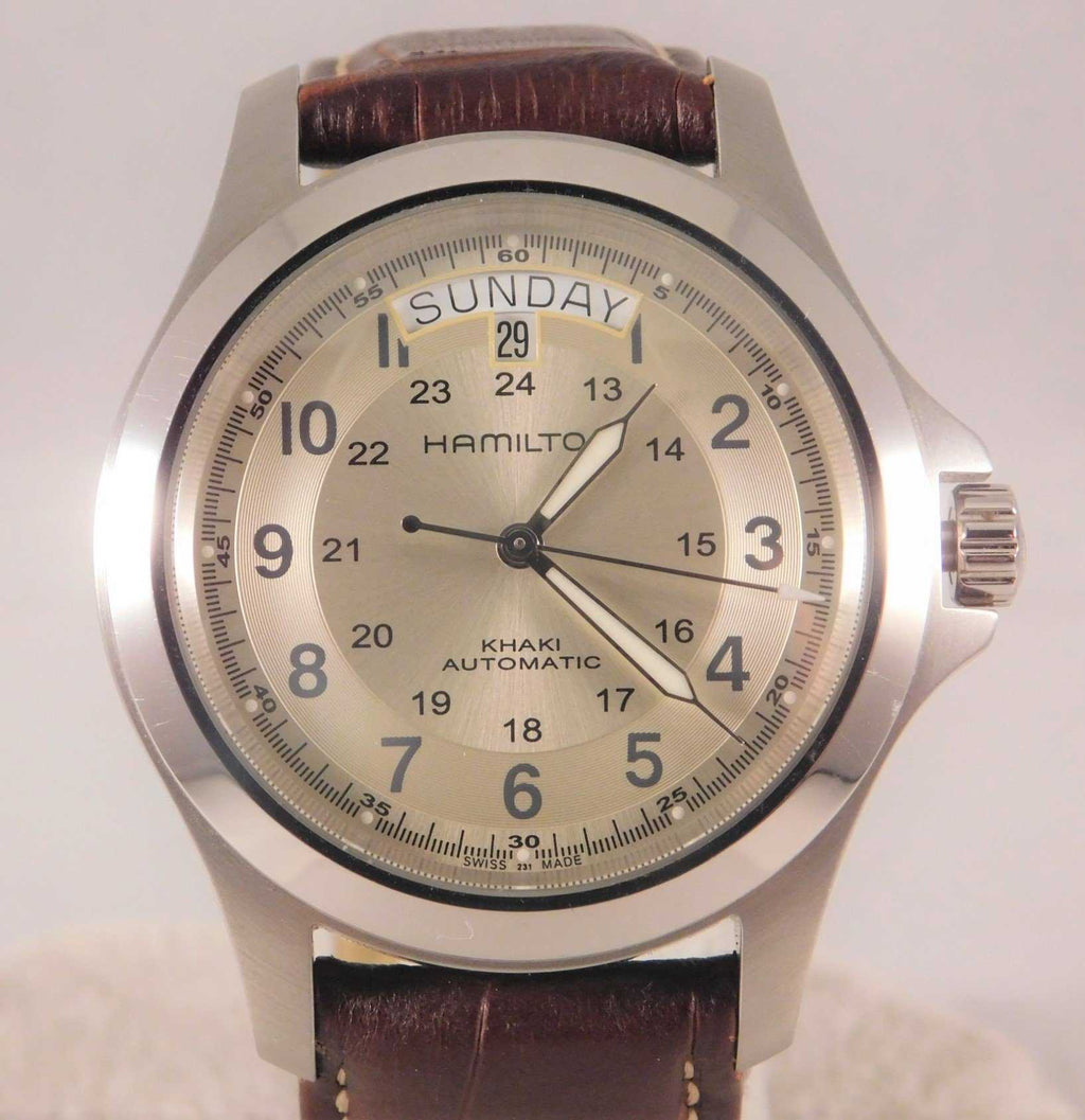 Hamilton Khaki Field King Day/Date Swiss Automatic SS Mens Wristwatch....40mm