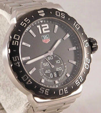 Tag Heuer Formula 1 Black Dial Grande Date SS Quartz Mens Watch WAU1110.....40mm