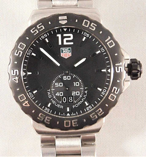 Tag Heuer Formula 1 Black Dial Grande Date SS Quartz Mens Watch WAU1110.....40mm | The Vintage Outlet