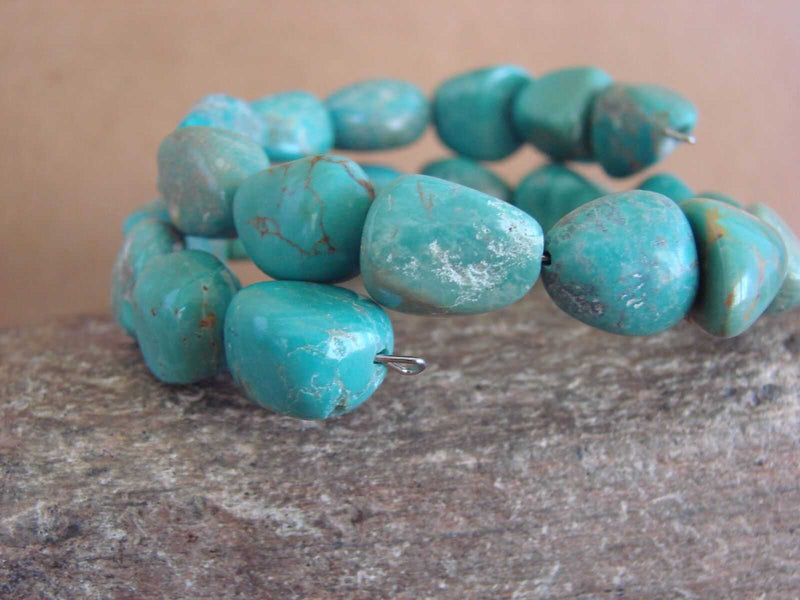 Native Indian Navajo Turquoise Memory Wire Bracelet by Yazzie
