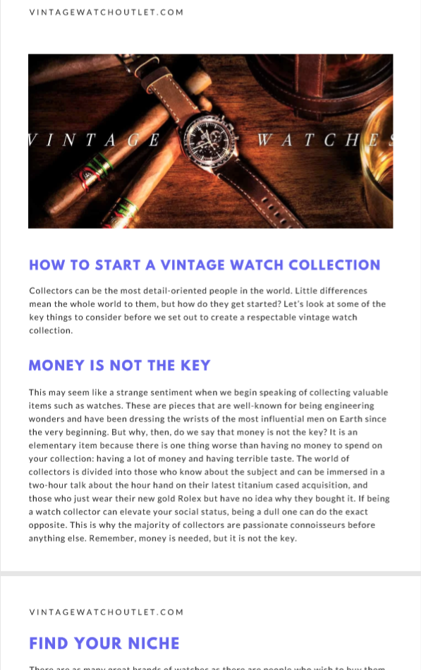 Vintage Watch Buyers Guide 2019 | By Vintage Watch Outlet | The Vintage Outlet