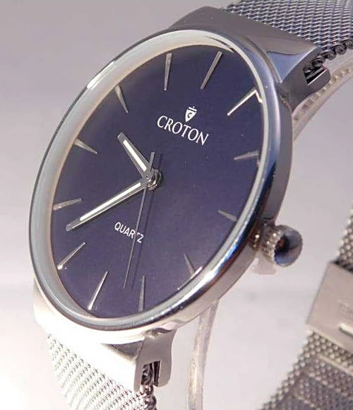 Croton Heritage Quartz Mesh Bracelet Mens Watches....40mm.....Your Choice | The Vintage Outlet