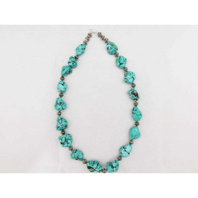 Necklace Turquoise Nuggets Made By Sandra Francisco | The Vintage Outlet