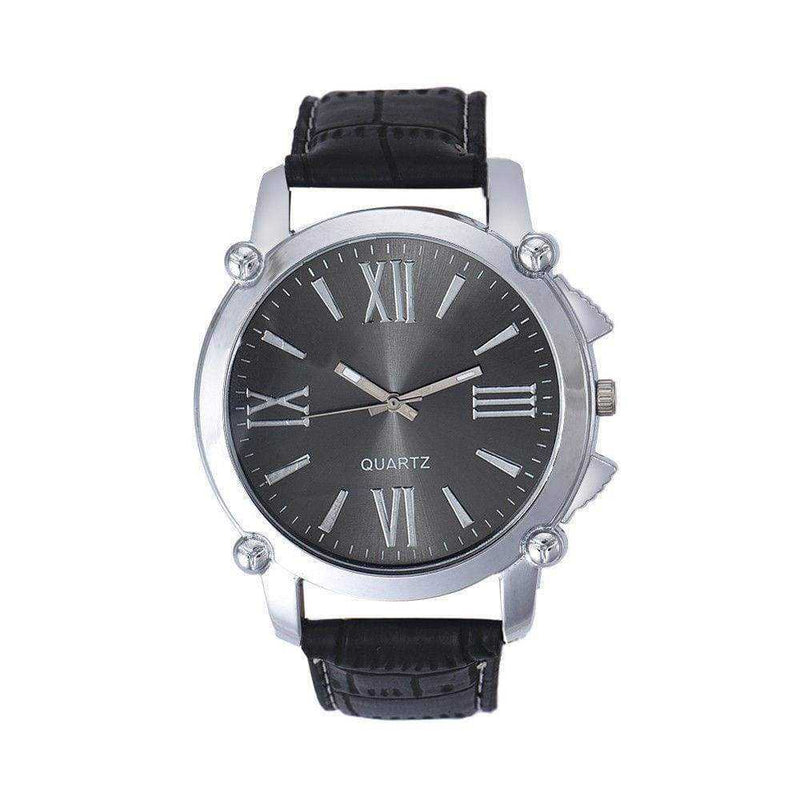 Non Brand Wristwatch Men/Women Leather Band Round Dial Analog....New....40mm - Wristwatches