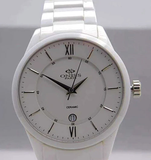 Oniss Slim Ceramic Swiss Quartz Men's Watch....43mm | The Vintage Outlet