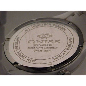 Oniss Slim Ceramic Swiss Quartz Mens Watch....43mm - Wristwatches