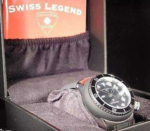 Swiss Legend 40mm Black Dial Wristwatch....Plus FREE Watch Watches - Wristwatches