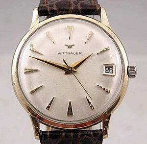 Wittnauer Vintage Ivory Dial Manual Wind Pre-Owned Mens Watch....34mm - Wristwatches