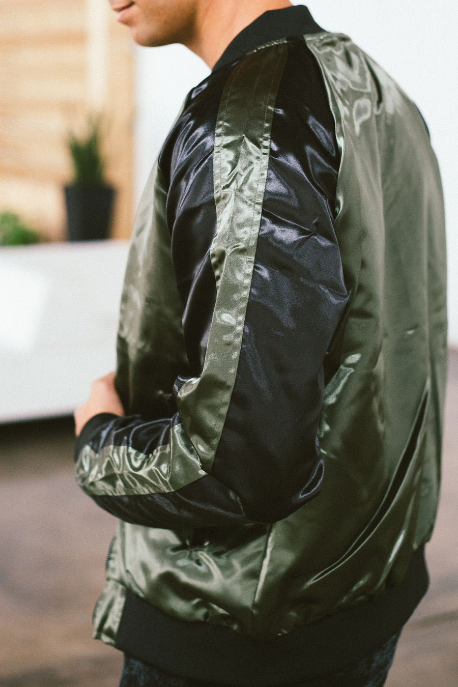 OLIVE AND BLACK BOMBER