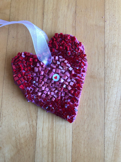 """The heart of it"" mosaic heart"