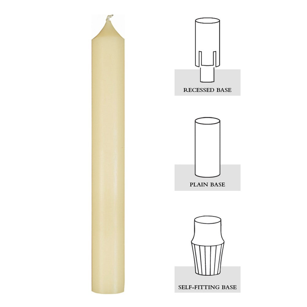 F6HB: 1-1/2 X 6, 51% BEESWAX ALTAR CANDLE [BOX OF 24]