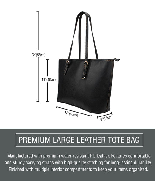 Large Leather Tote Sizing Chart