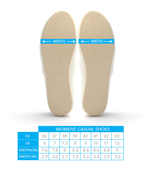 Womens Casual Width Guide
