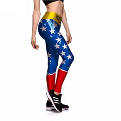 American Superwoman Athletic Leggings-Leggy Me