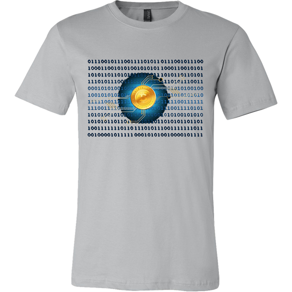 Bitcoin Binary Heart Short Sleeve Shirt-Leggy Me