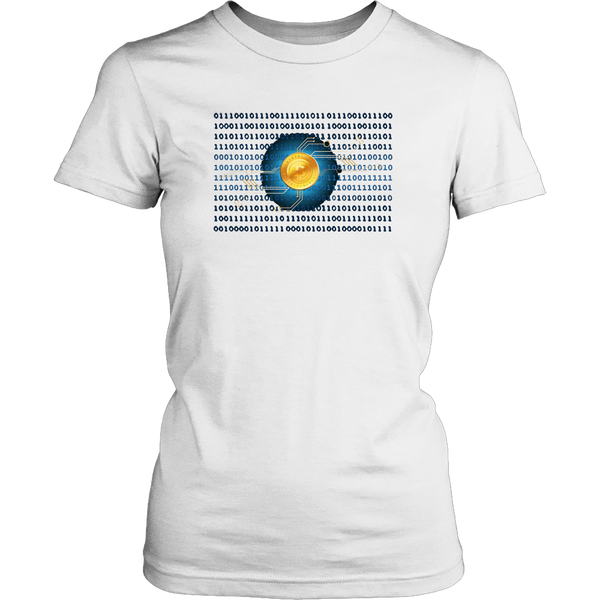 Bitcoin Binary Heart Womens Shirt-Leggy Me