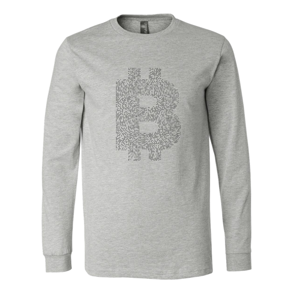 Bitcoin Binary Logo Long Sleeve Shirt-Leggy Me