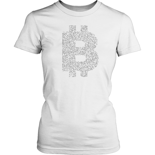 Bitcoin Binary Logo Womens Shirt-Leggy Me