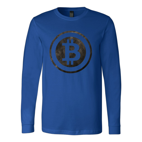 Bitcoin Black and White Logo Long Sleeve Shirt-Leggy Me
