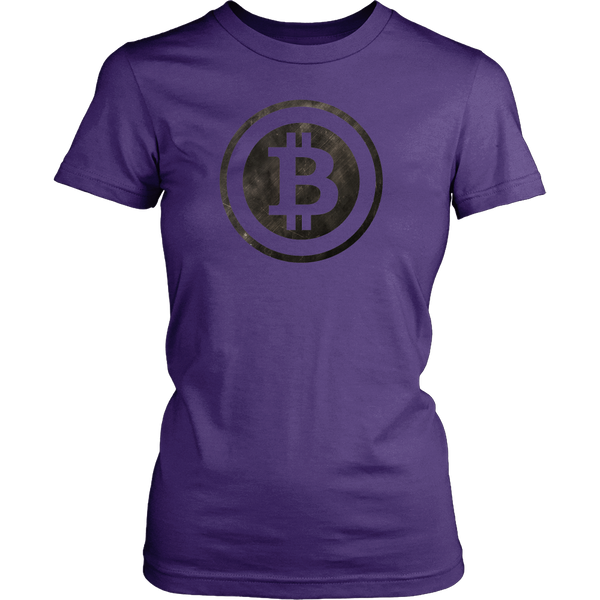 Bitcoin Black and White Logo Womens Shirt-Leggy Me