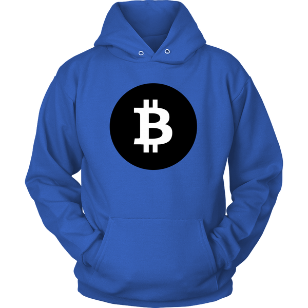 Bitcoin Black Circle Hoodie-Leggy Me