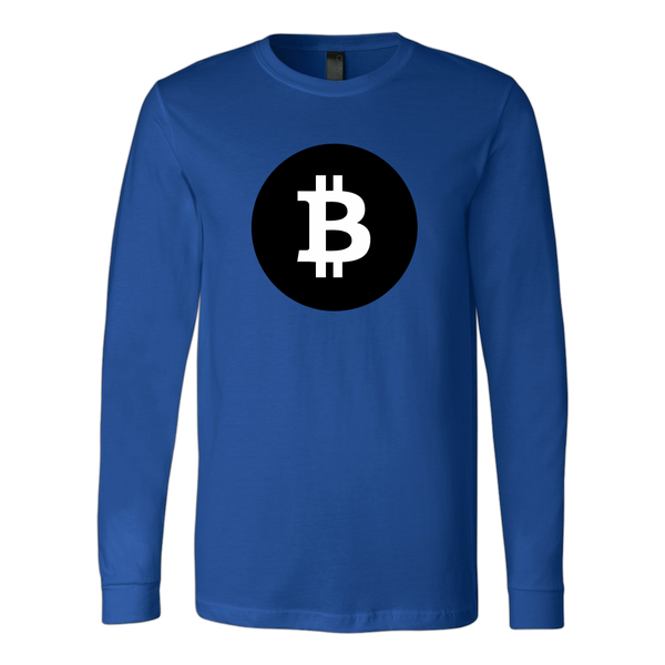 Bitcoin Black Circle Long Sleeve Shirt-Leggy Me