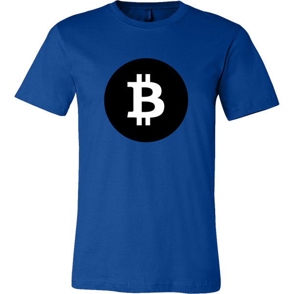 Bitcoin Black Circle Short Sleeve Shirt-Leggy Me