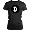 Bitcoin Black Circle Womens Shirt-Leggy Me