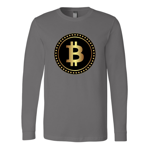Bitcoin Black Ring Long Sleeve Shirt-Leggy Me
