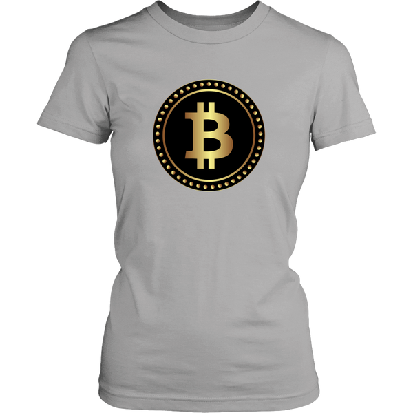 Bitcoin Black Ring Womens Shirt-Leggy Me