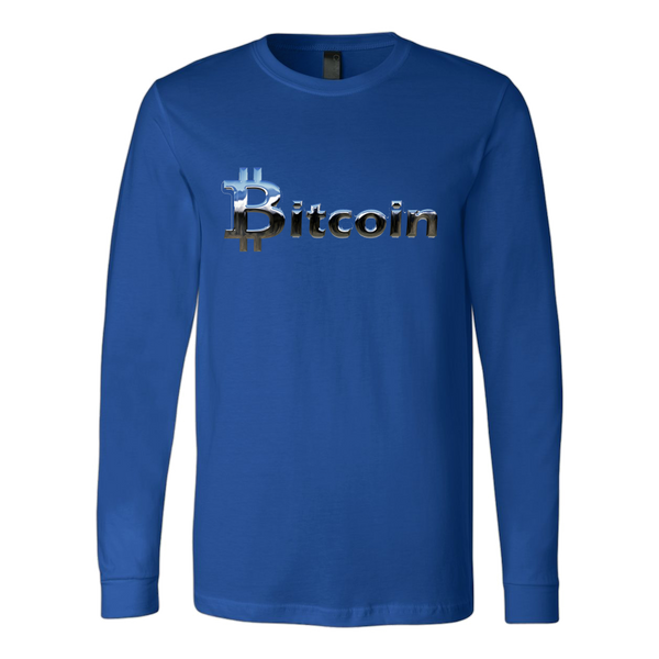 Bitcoin Chrome Logo Long Sleeve Shirt-Leggy Me