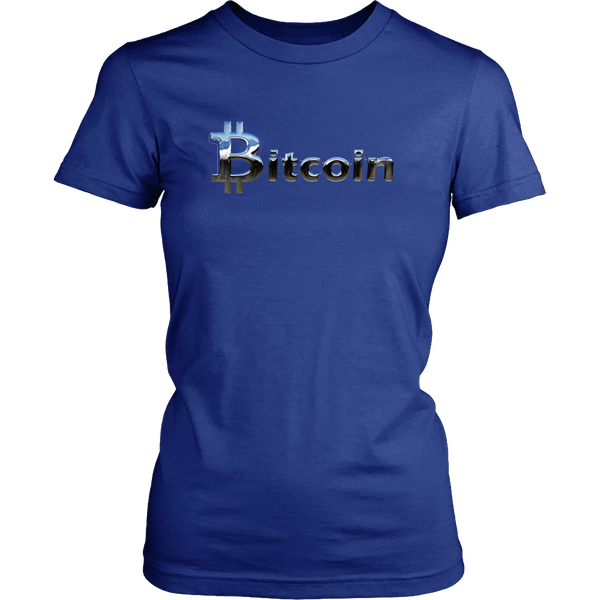 Bitcoin Chrome Logo Womens Shirt-Leggy Me