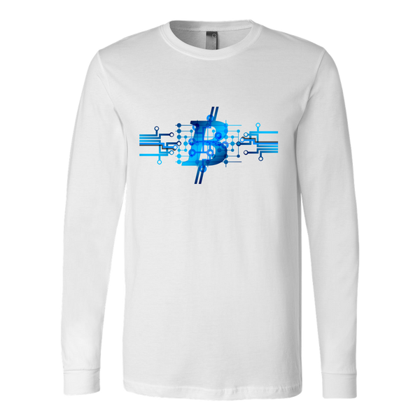 Bitcoin Circuit Logo Long Sleeve Shirt-Leggy Me