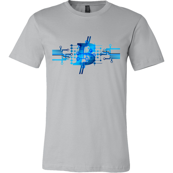 Bitcoin Circuit Logo Short Sleeve Shirt-Leggy Me