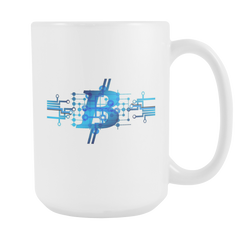 Bitcoin Circuit Logo Tall Mug-Leggy Me