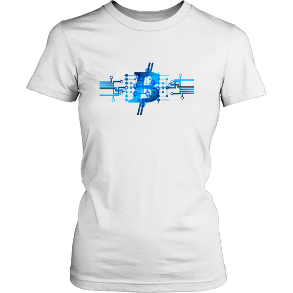 Bitcoin Circuit Logo Womens Shirt-Leggy Me