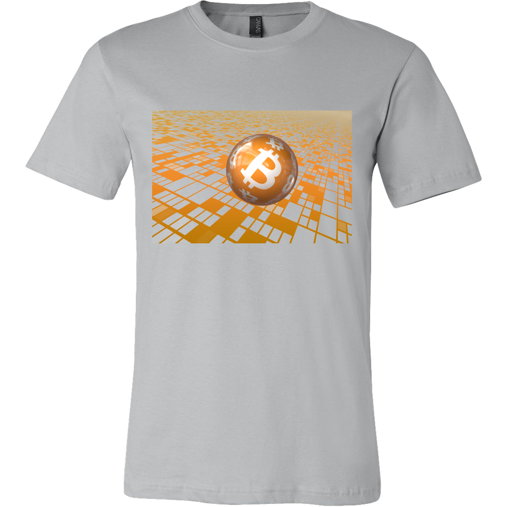 Bitcoin Floating Ball Short Sleeve Shirt-Leggy Me
