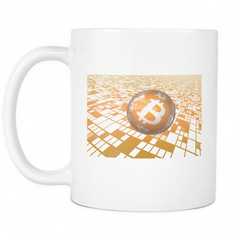Bitcoin Floating Ball White Mug-Leggy Me