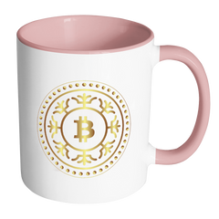 Bitcoin Fractal Ring Accent Mug-Leggy Me