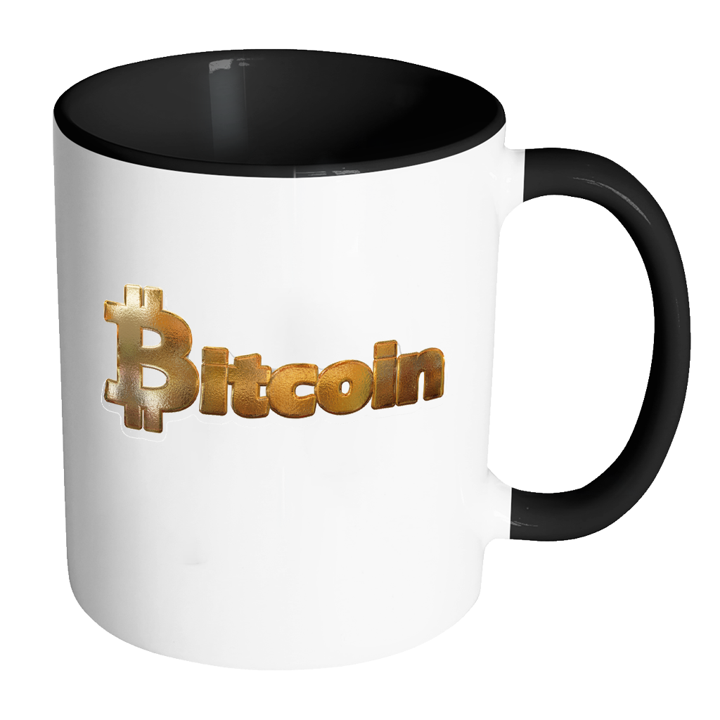 Bitcoin Gold Logo Accent Mug-Leggy Me
