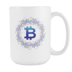 Bitcoin Network Wreath Tall Mug-Leggy Me